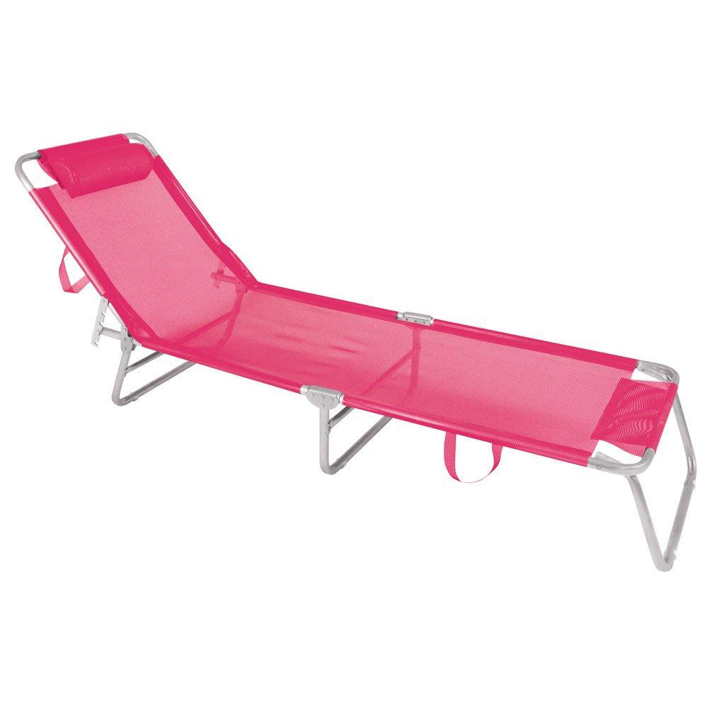 Cadeira Espreguiçadeira Alumínio Rosa - Mor 2704