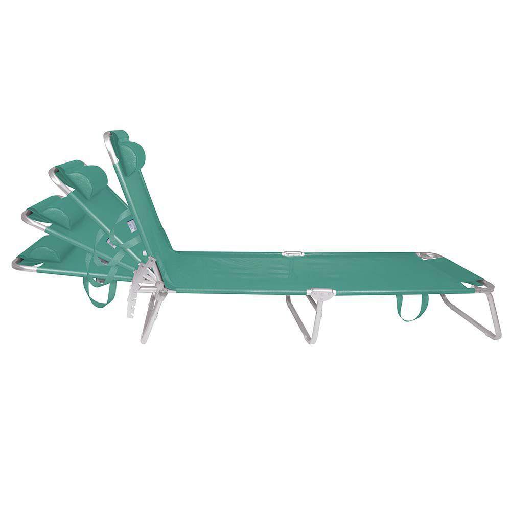 Cadeira Espreguiçadeira Alumínio Turquesa - Mor 2702