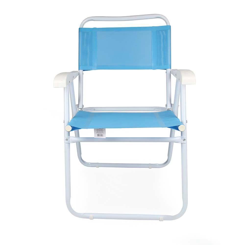 Cadeira Master Aço Fashion Azul - Mor 2029