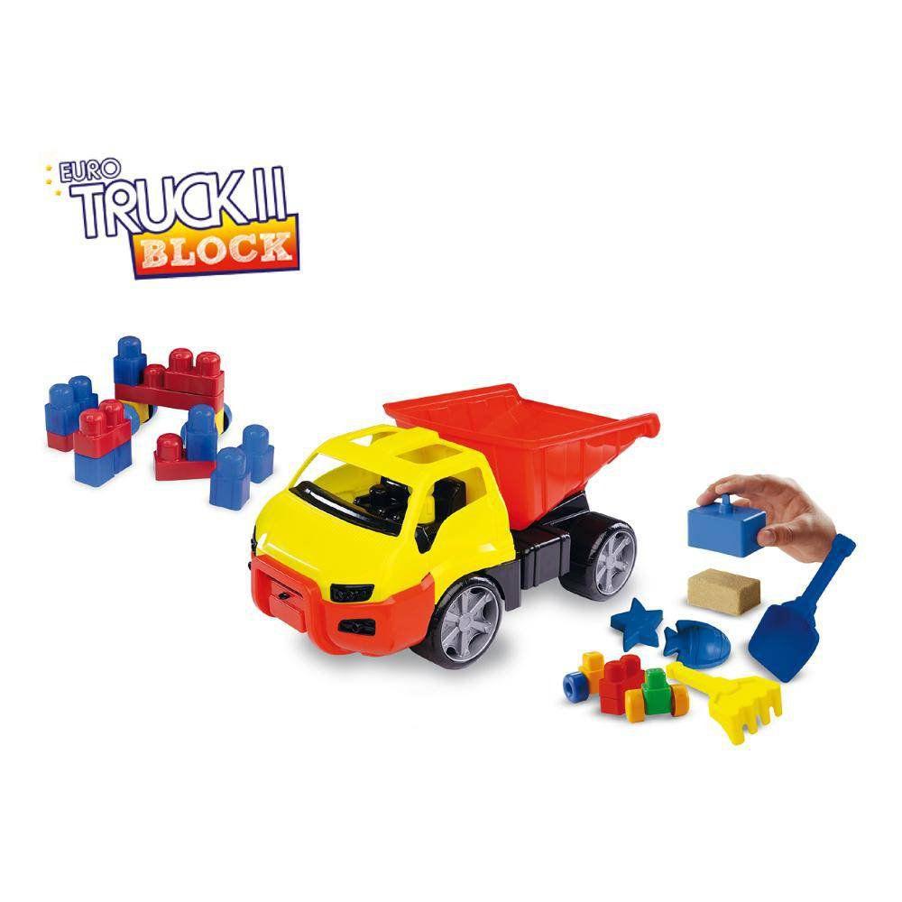 Caminhão Caçamba Euro Truck Com Blocos Mk162 - Dismat