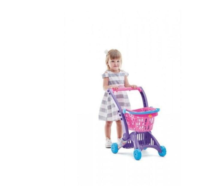 Carrinho de Compras Imaginativa Super Mercadinho Cesto Rosa - TaTeTi 0212