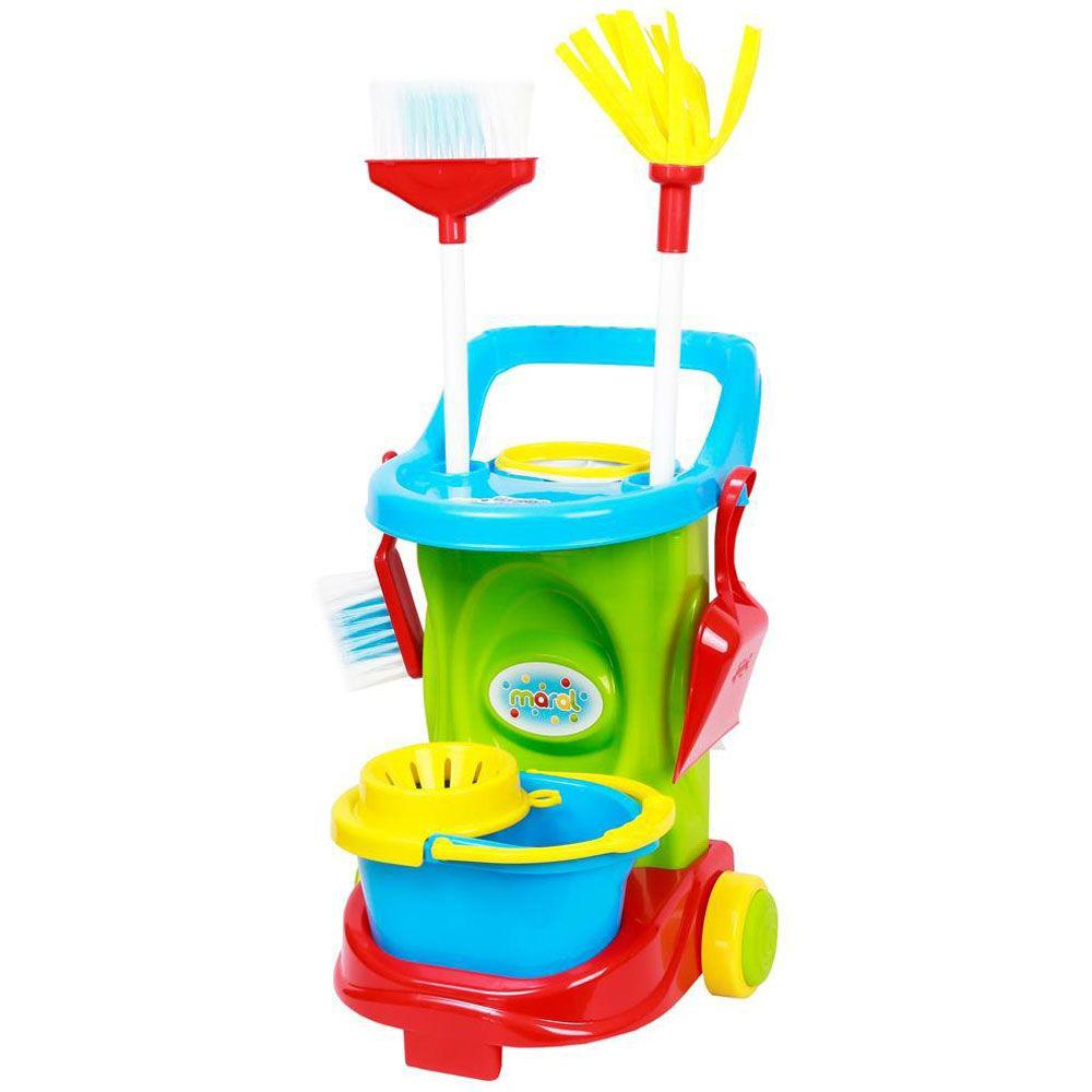 Carrinho de Limpeza Colorido Cleaning Trolley - Maral 1098