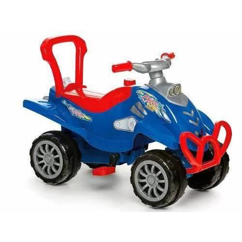 Carrinho De Passeio Cross Turbo Azul 0966 - Calesita
