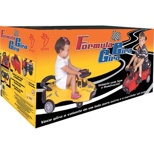 Carrinho Fórmula Gira Gira Amarelo - Fênix  FG-2824