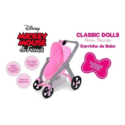 Carrinho para Boneca Classic DOLLS Minnie Mouse - Roma 5168