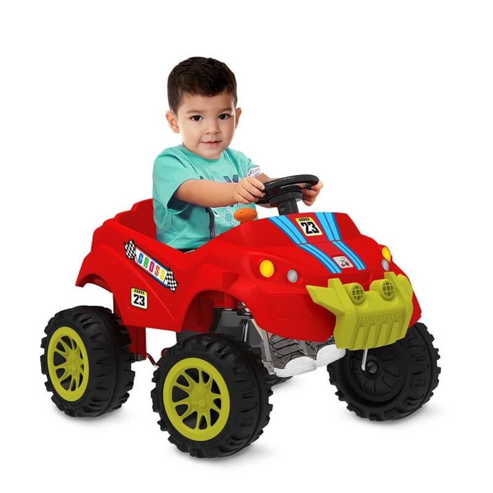 Carrinho Smart Passeio e Pedal Vermelho - Bandeirante 461