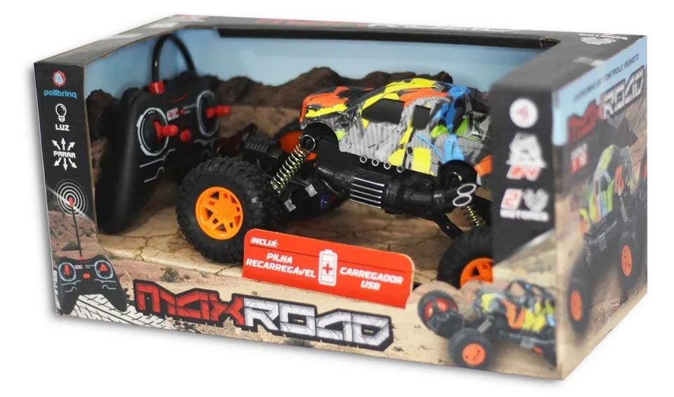 Carro de Controle Remoto Max Road Sortido 4 x 4 - Polibrinq CAR501