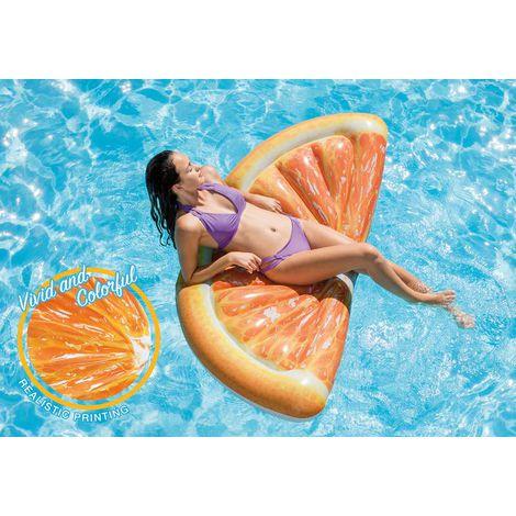 Colchão inflável para piscina Laranja Fatia 58763 Intex