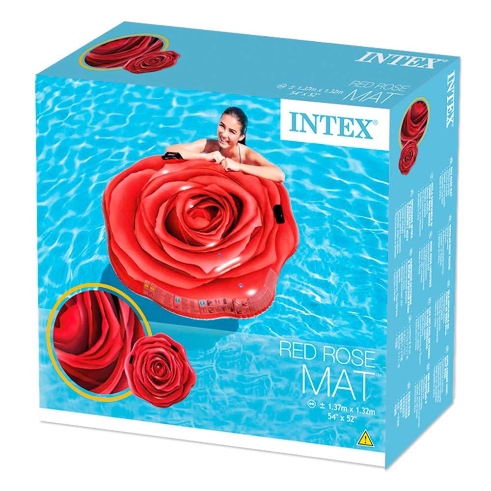 Colchão Inflável Para Piscinas Rosa Vermelha - Intex 58783