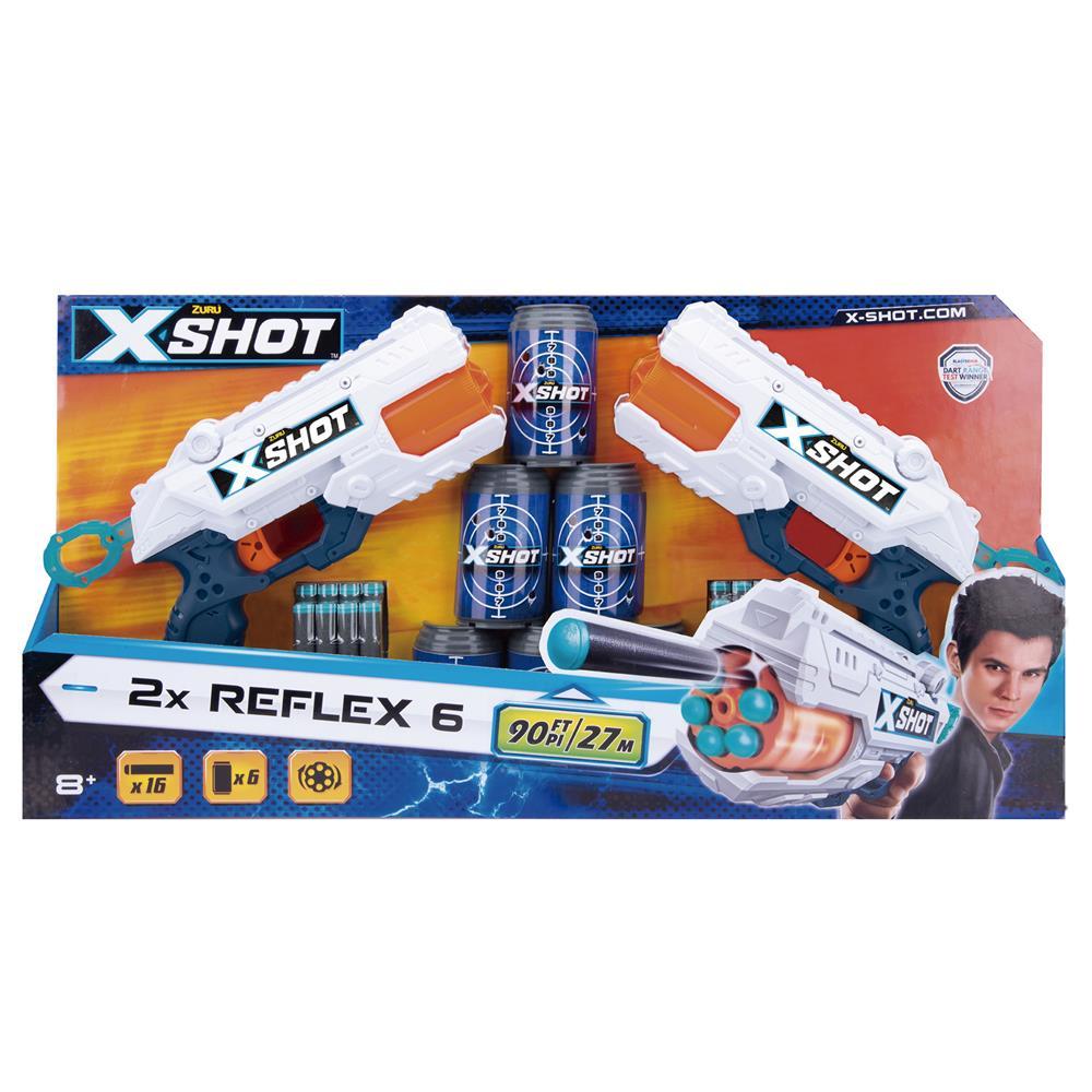 Conjunto Lançadores e Alvos X-Shot Excel Series Reflex 6 - Candide 5546