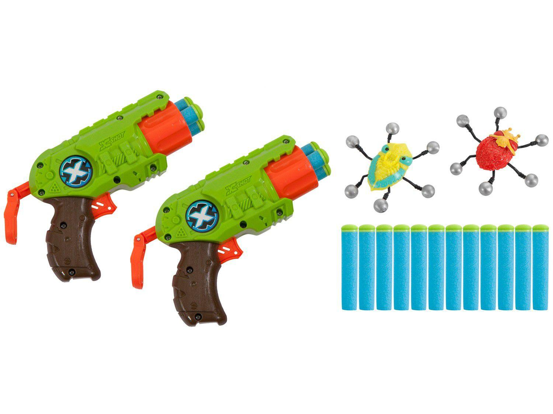 Conjunto Lançadores X-Shot Bug Attack Double Predator - Candide 5506