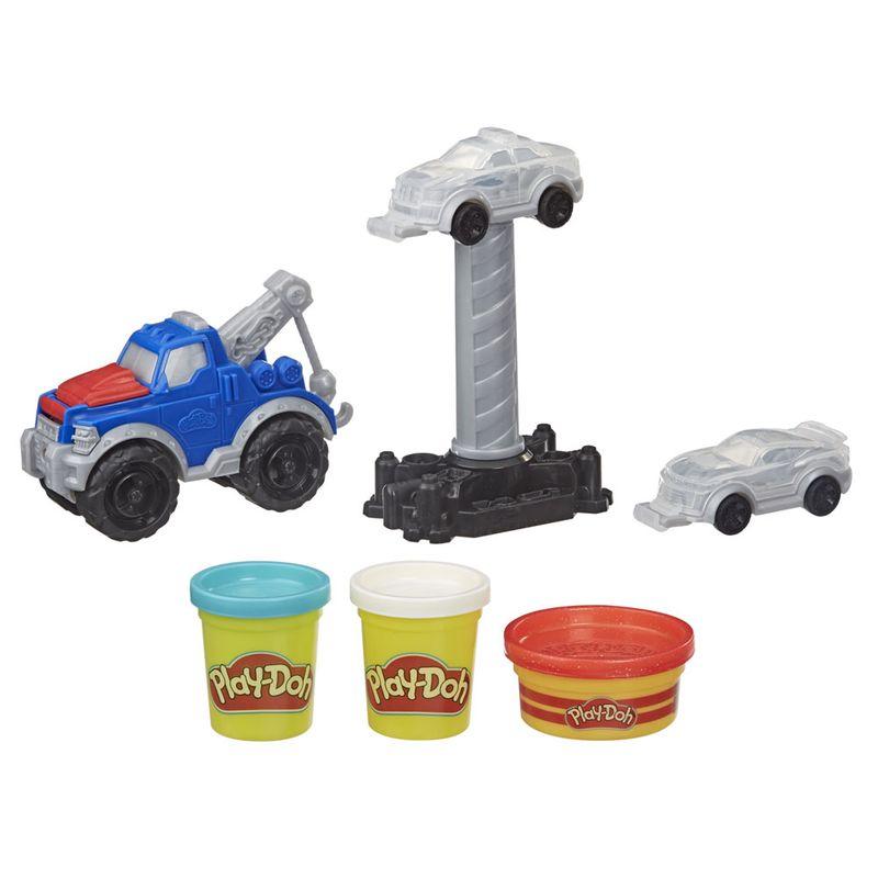 Conjunto Massa de Modelar Play-Doh  Wheels Reboque Hasbro E6690