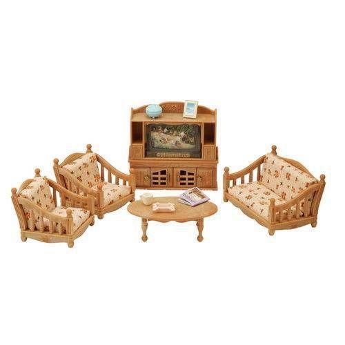 Conjunto Sala de Estar Confortável Sylvanian Fam. Epoch 5339