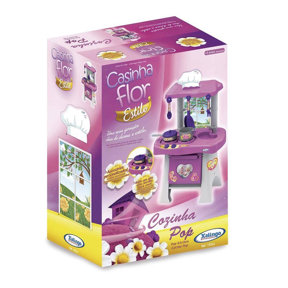Cozinha Pop Casinha Flor 04543 - Xalingo