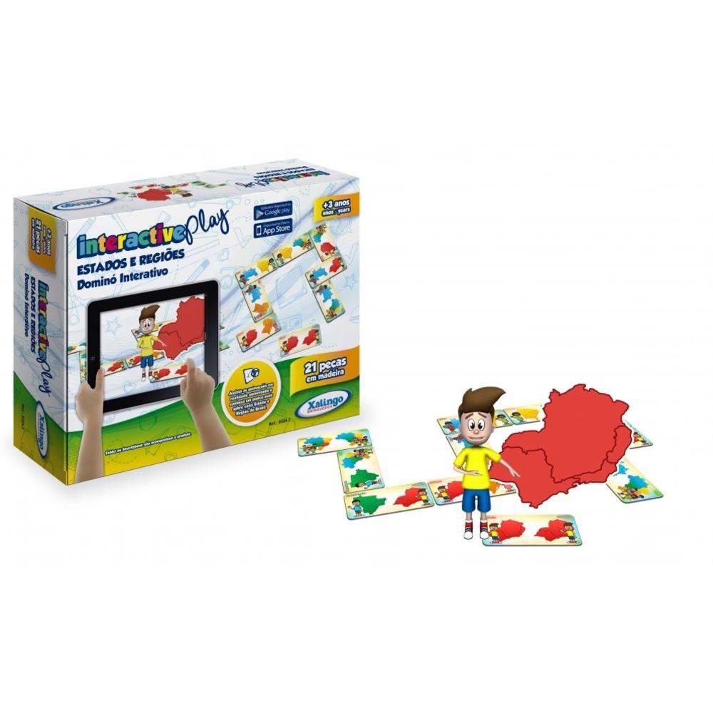 Dominó Interactive Play Estados e Regiões 53243 - Xalingo