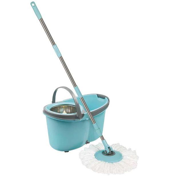 Esfregão Mop com Rodinhas Limpeza Prática - Mor 8295