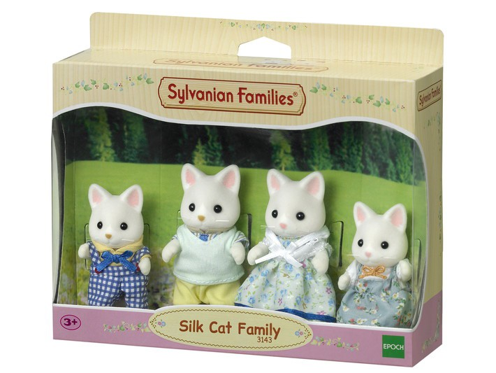 Família Gato de Seda Sylvanian Families - Epoch 4175