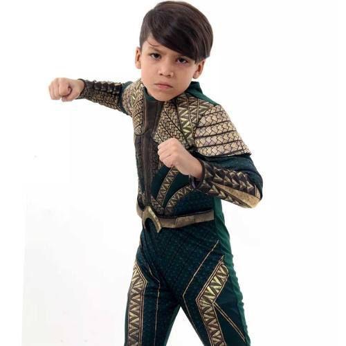 Fantasia Aquaman Infantil Luxo G 922109 - Sulamericana