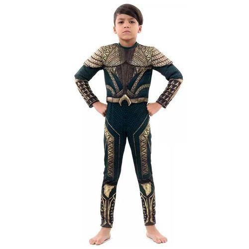Fantasia Aquaman Infantil Luxo M 922109 - Sulamericana