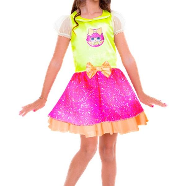 Fantasia Clássica Lol Glitter Queen M 113395.0 - Regina