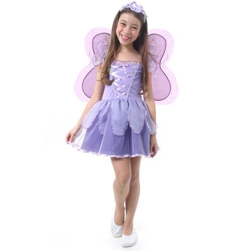 Fantasia Fadinha Lilas Infantil G 38305 - Sulamericana