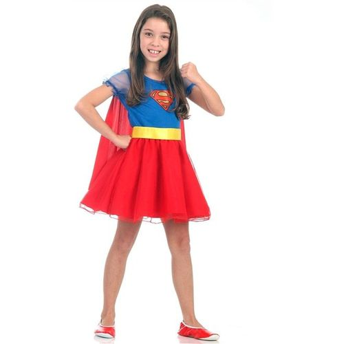 Fantasia Infantil Super Mulher Princesa G 22059 - Sulamericana