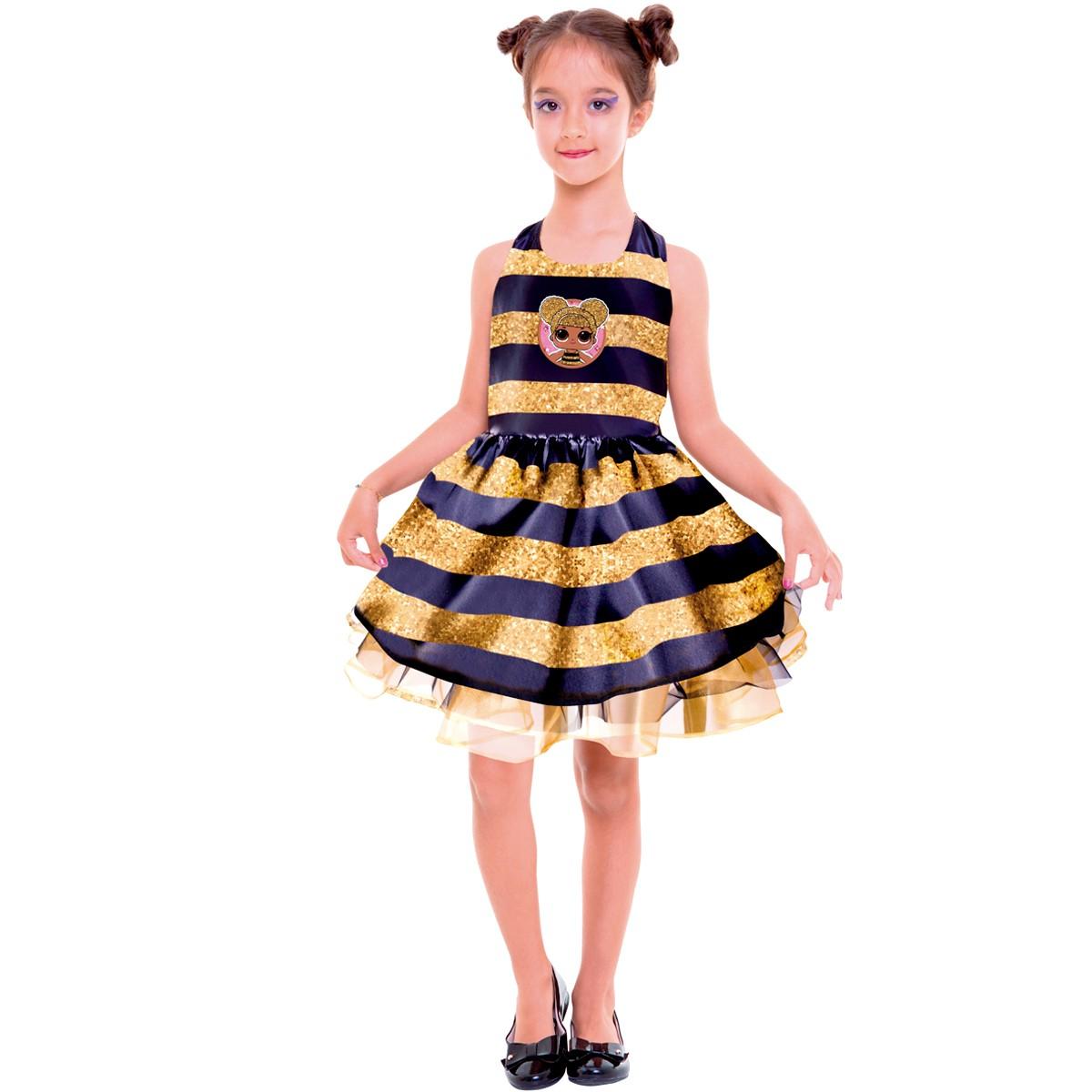 Fantasia LOL Queen Bee Clássica P 113391.8 - Regina