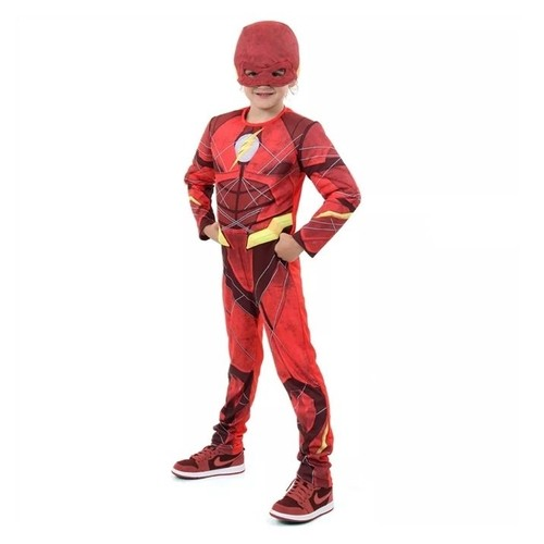 Fantasia The Flash Infantil Luxo G 922031 - Sulamericana