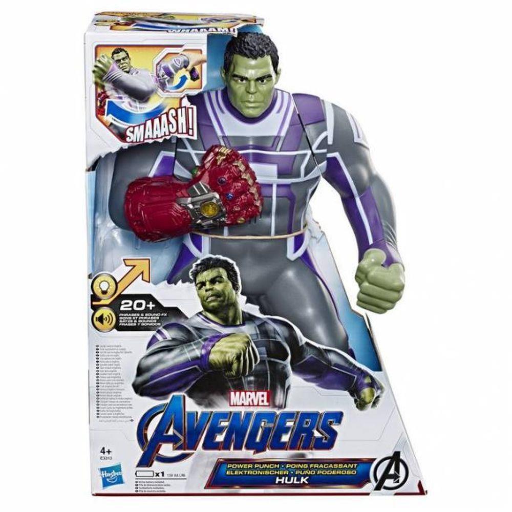 Figura Power Punk Hulk  Luxo com frases e sons E3313 Hasbro