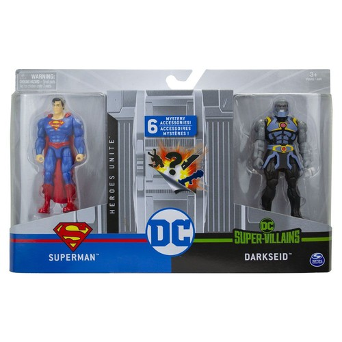 Figuras Articuladas 10 Cm DC Comics Superman e Darkseid - Sunny 2194