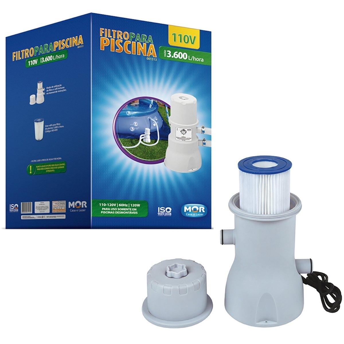 Filtro para Piscina 3600 L/h Litros 110 Volts - Mor 1513