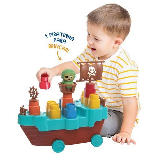 Fofo Blocos Barco Pirata - 13 Peças Elka