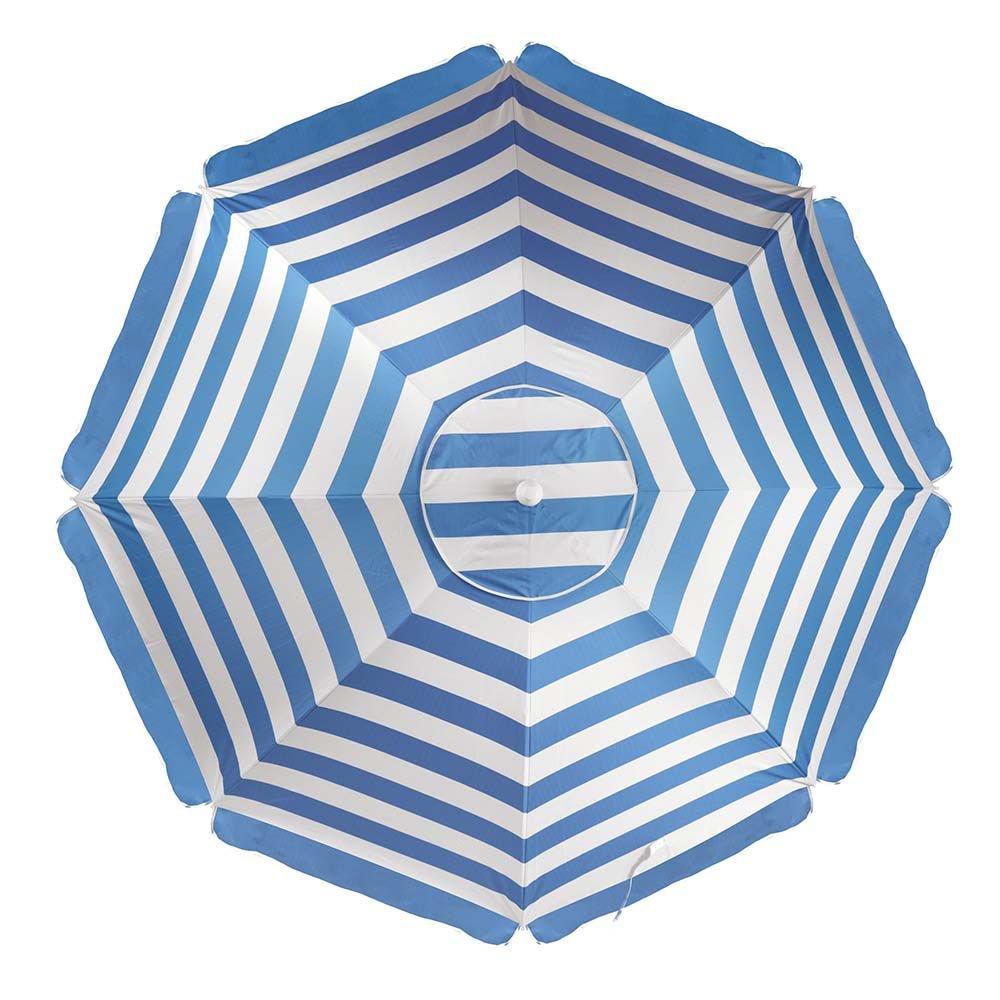 Guarda-Sol Alumínio 2,60m Azul  - Mor 3751
