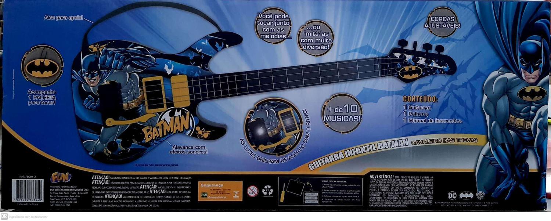 Guitarra Infantil Batman Cavaleiro Das trevas - Fun  F00042