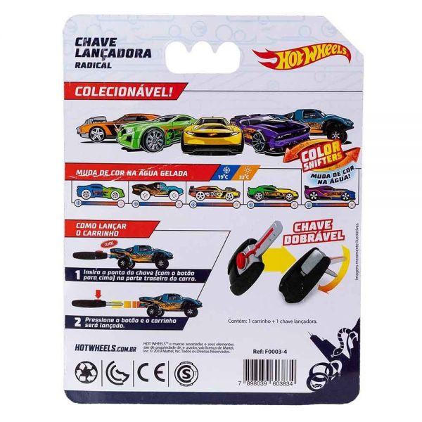 Hot Wheels Carro Com Chaveiro Lançador Azul - Fun F00034