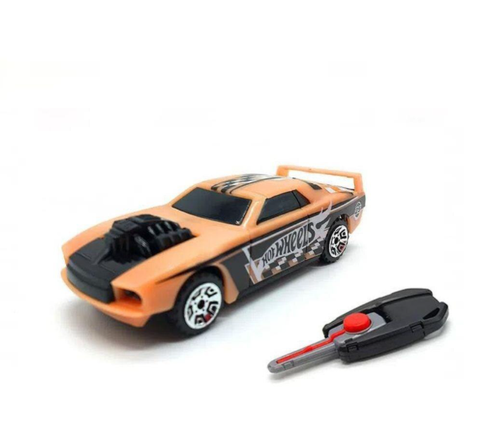 Hot Wheels Carro Com Chaveiro Lançador Laranja - Fun F00034