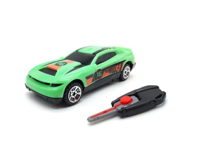 Hot Wheels Carro Com Chaveiro Lançador Verde- Fun F00034