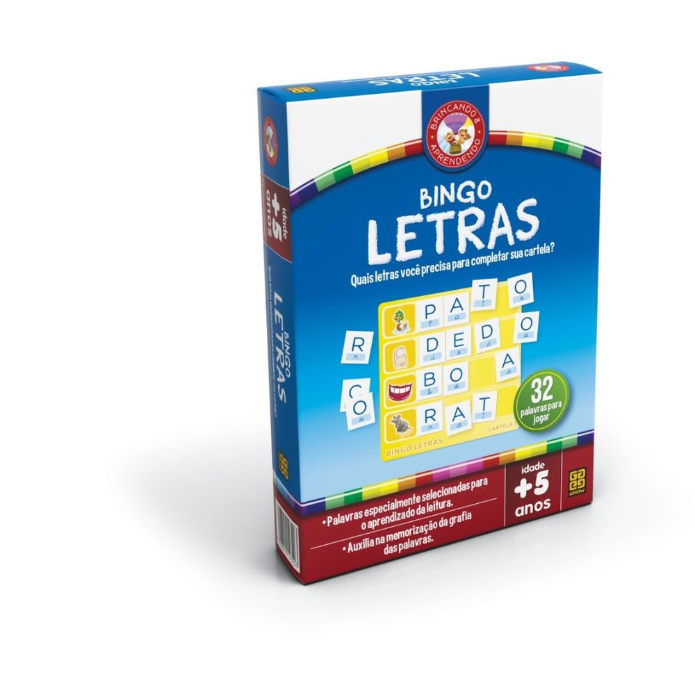 Jogo Bingo De Letras - Grow 2320