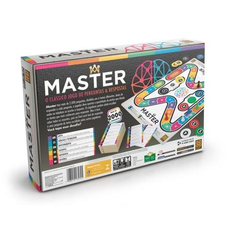 Jogo de Tabuleiro Master Perguntas e Respostas - Grow 3572