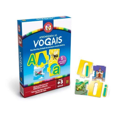 Jogo Educativo Aprendendo As Vogais - Grow 2439
