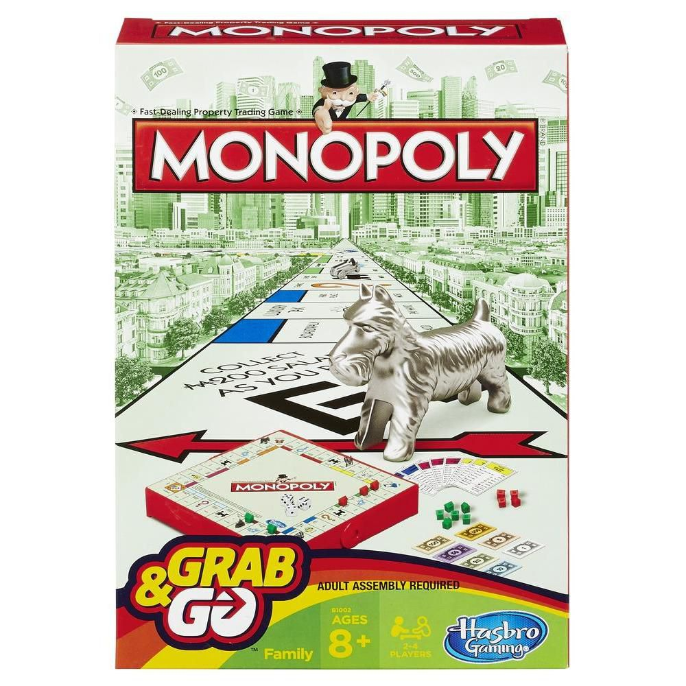 Jogo Monopoly Grab & Go B1002 - Hasbro