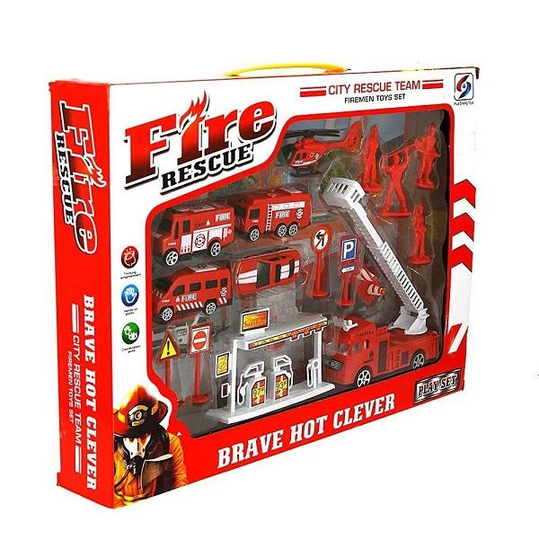 Kit Bombeiro Mini Resgate Play Machine Verm. Multikids BR970