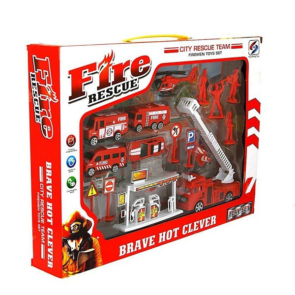 Kit Bombeiro Mini Resgate Play Machine Vermelho - Multikids BR970