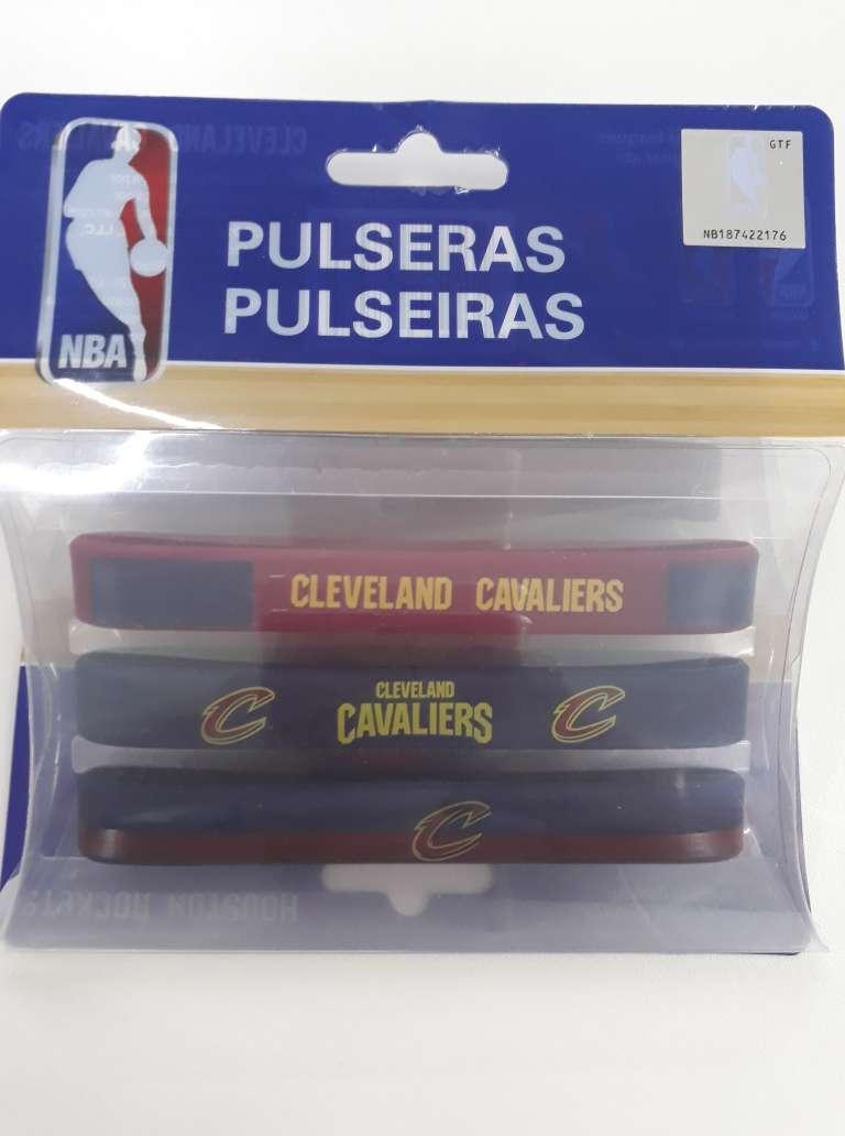 Kit C/3 Pulseiras de Silicone NBA Cleveland Cavaliers - Maccabi 6846