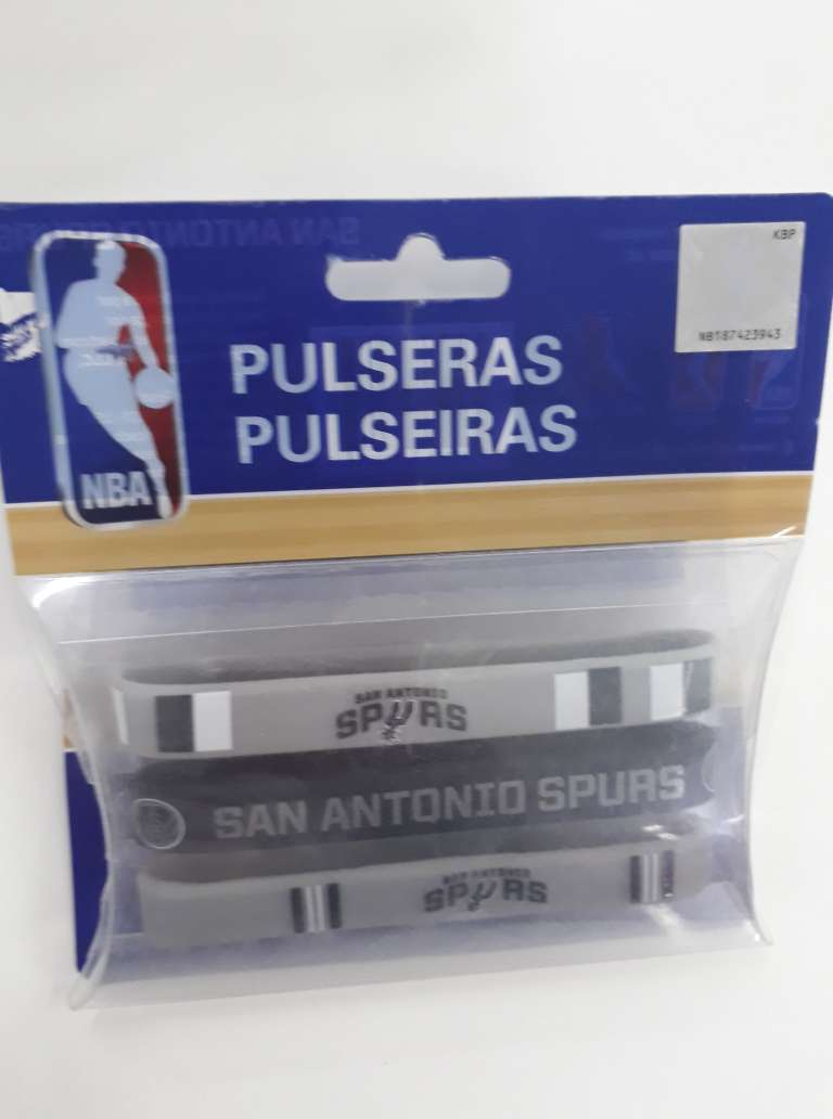 Kit C/3 Pulseiras de Silicone NBA San Antonio Spurs - Maccabi 7205