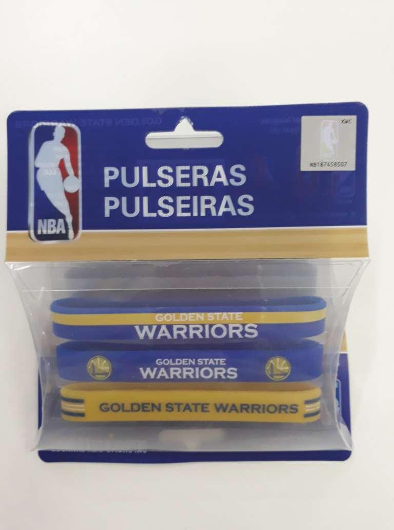 Kit C/3 Pulseiras de Silicone NBA Warriors - Maccabi 7188