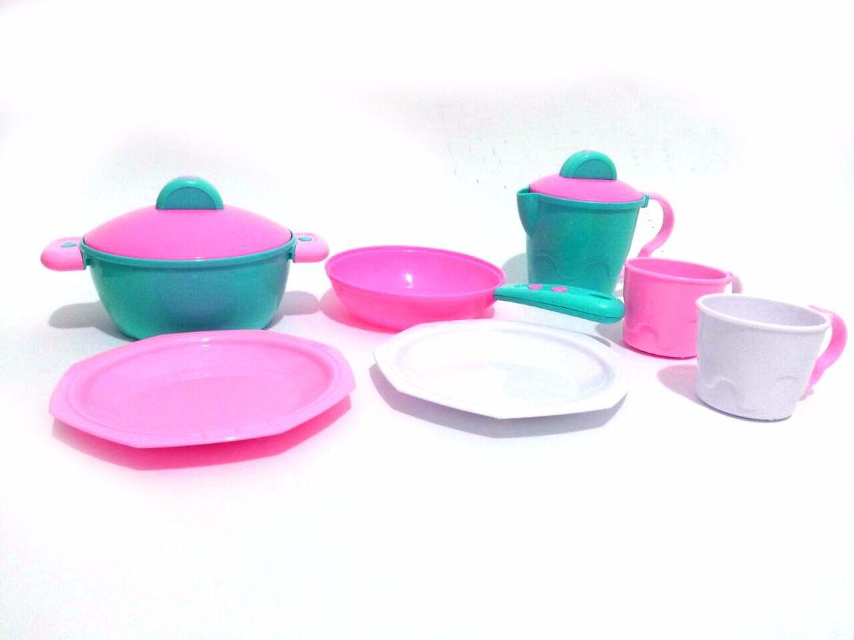 Kit De Cozinha Completo Verde E Rosa 333 - Calesita