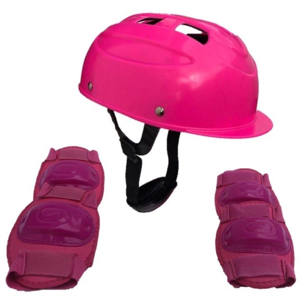 Kit De Proteção Joelheira E Cotoveleira Rosa Pink CP02 CIE