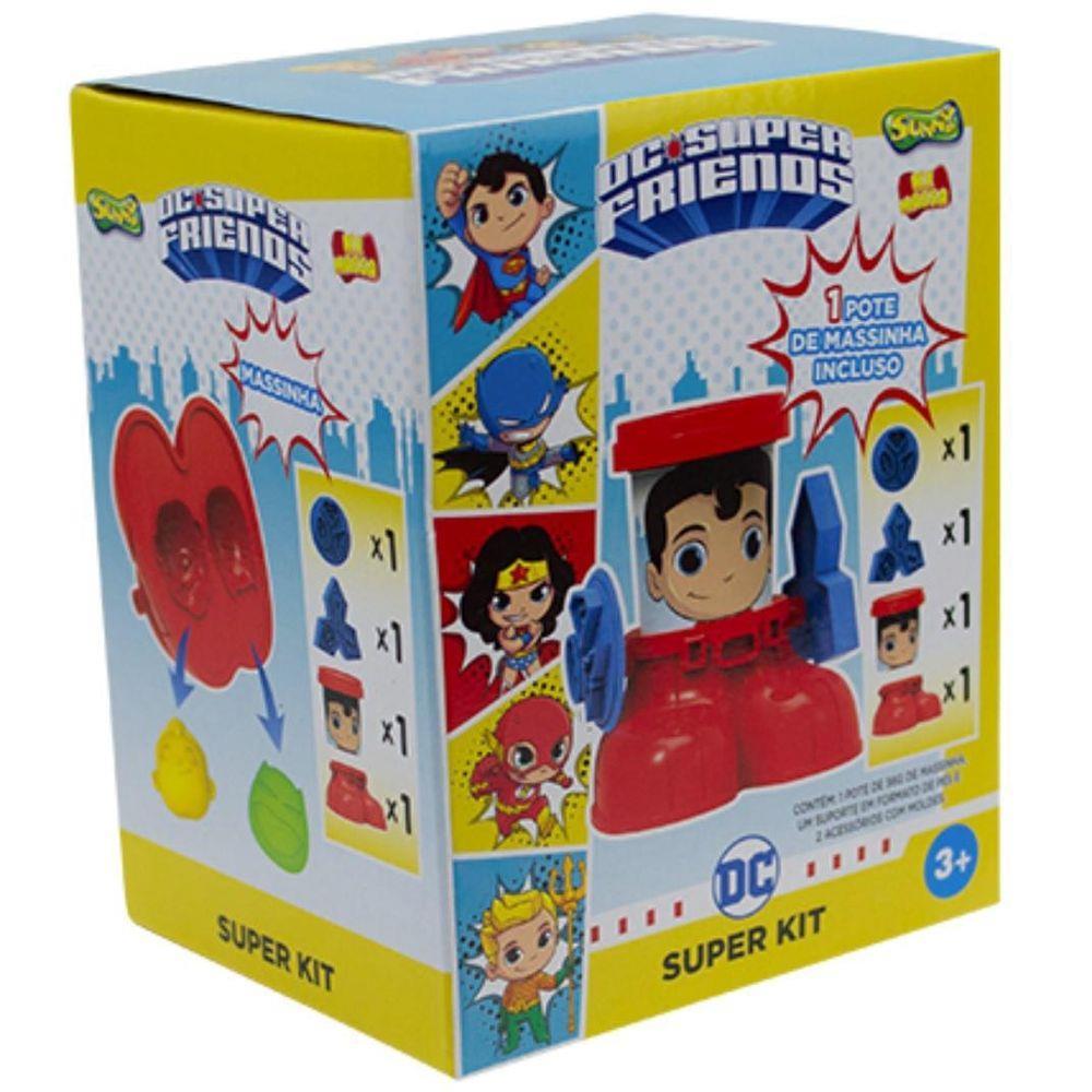 Kit Massinha de Modelar Dc Super Friends Super Homem - Sunny 2162