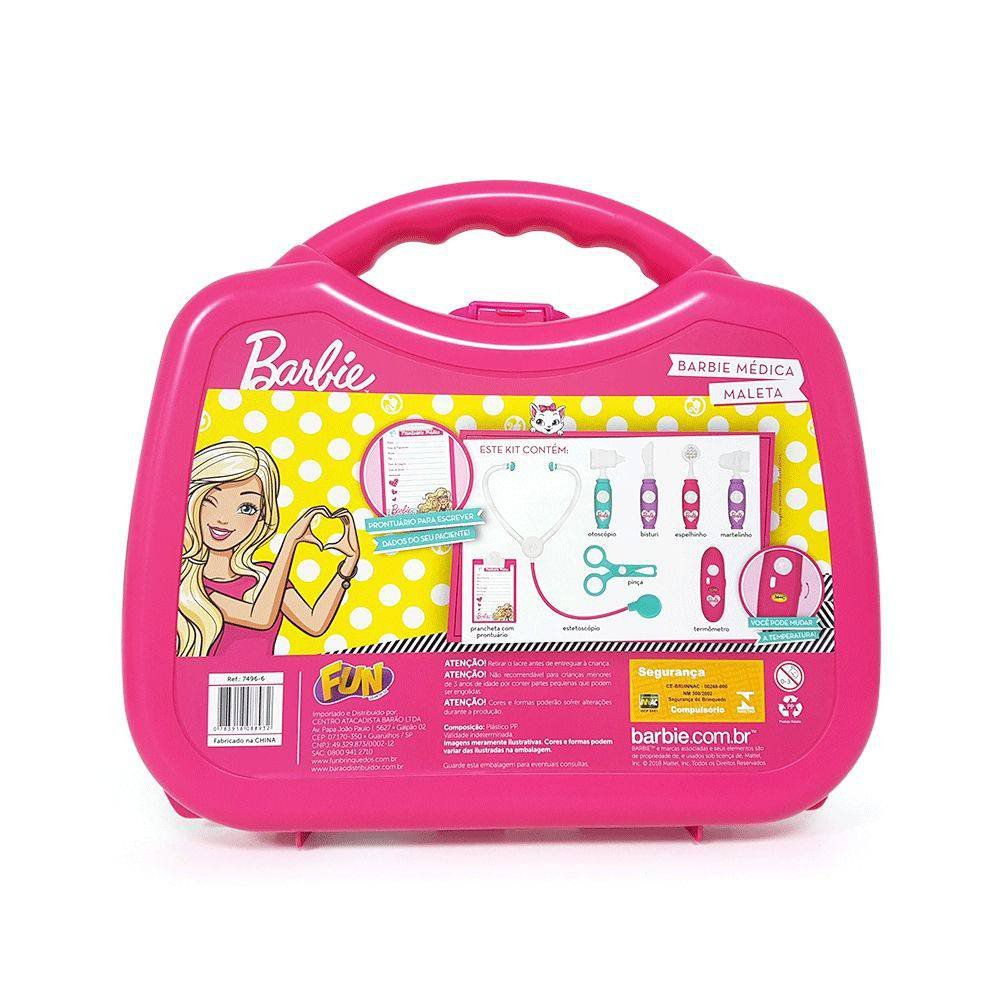 Kit Medica Maleta Barbie - Fun 74966